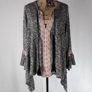 Anthropologie | Anama Riada Bell Sleeve Tunic (L)